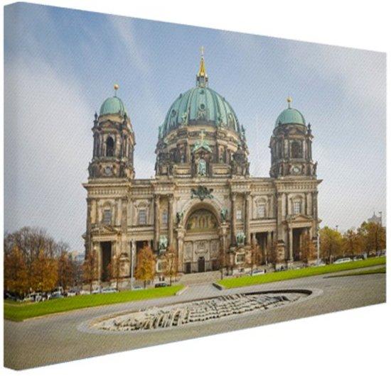 Dom van berlijn bij dag Canvas 120x80 cm - Foto print op Canvas schilderij (Wanddecoratie woonkamer / slaapkamer) / Steden Canvas Schilderijen