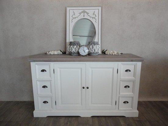Dressoir Wit Landelijk : Bol dressoir wit met houten blad laden deurtjes