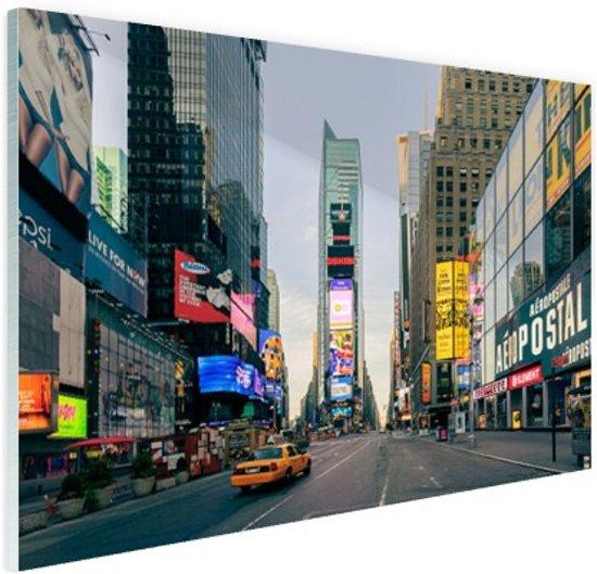 Gele taxi in Times Square Glas 30x20 cm - Foto print op Glas (Plexiglas wanddecoratie)