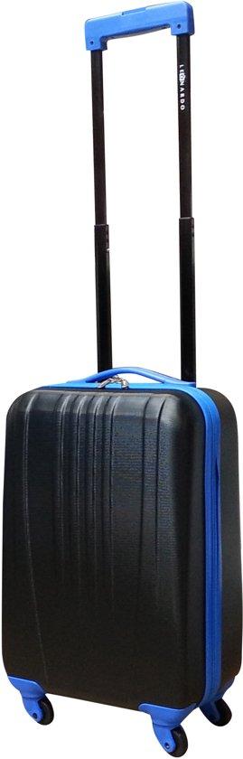 b4ae0eaf010 Leonardo Hobart handbagage koffer - zwart/blauw