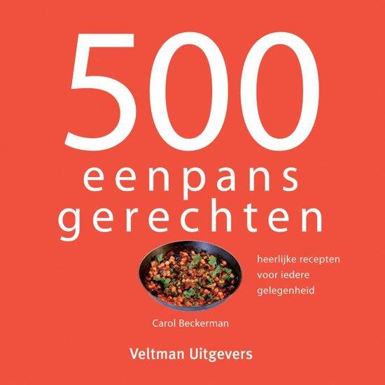 Boek cover 500 eenpansgerechten van Carol Beckerman (Hardcover)