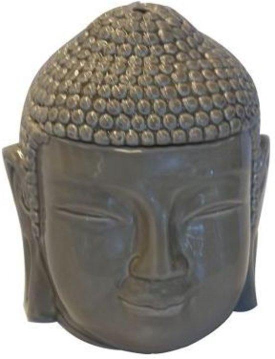 Scentchips brander buddha kop grijs - taupe
