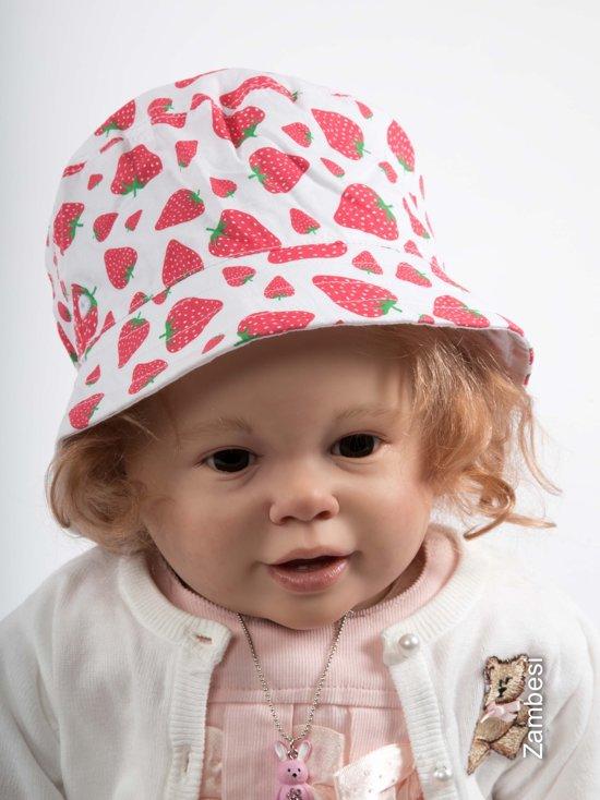 Bolcom Baby Zonnehoedje Jocko Met Aardbeien 9 18 Maanden Es1455 Wit