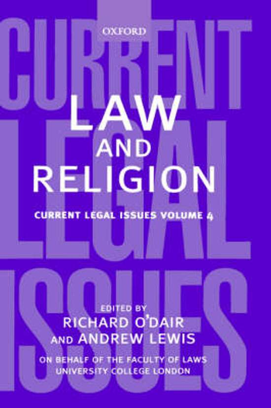 law and religion Religion and law consortium a research forum for legal developments on international law and religion or belief topics.