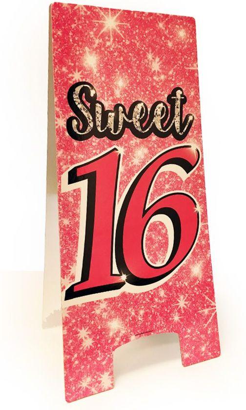 Bol Com Decoratie Bord Sweet 16 Verjaardag Versiering Paper
