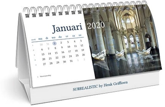 Desk kalender 2020 Surrealistic by Henk Griffioen (21 x 14)