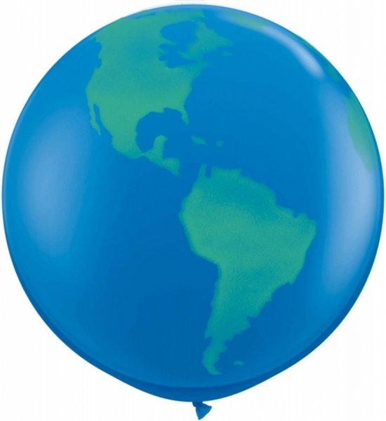 Mega ballon wereldbol 91 cm Valentinaa