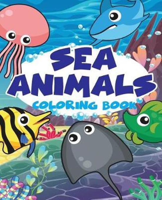 Bol Com Sea Animal Vol1 Easy Coloring Book For Kids Toddler