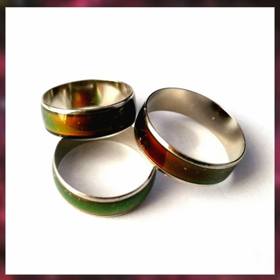 Mood ring, Warmte ring Maat 61