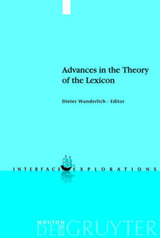 Advances in the Theory of the Lexicon