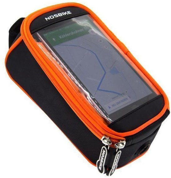 Fiets Stuurtas Fietstas (XL) Met Smartphone / headset / bankcards Houder & Kaartlezer (Kaarthouder)   Zwart