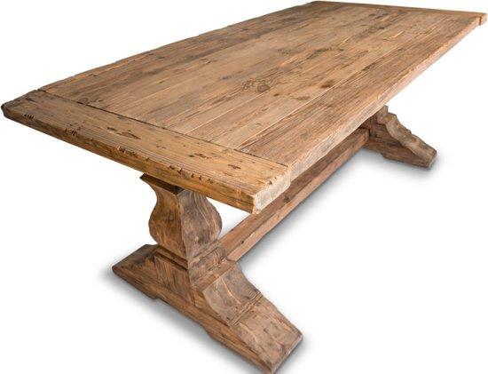 Grenen Eettafel 220 Cm.Bol Com Livinn Zevenaar Kolompoot Tafel Old Barnwood