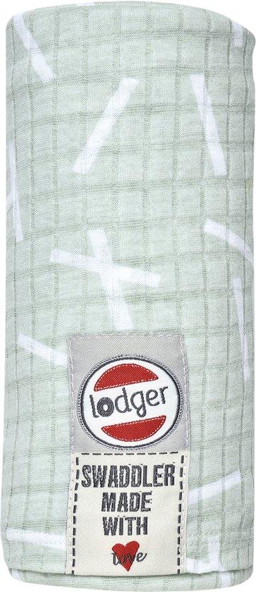 Lodger Hydrofiele doek - Swaddle Sprinkle - Groen - 120x120cm