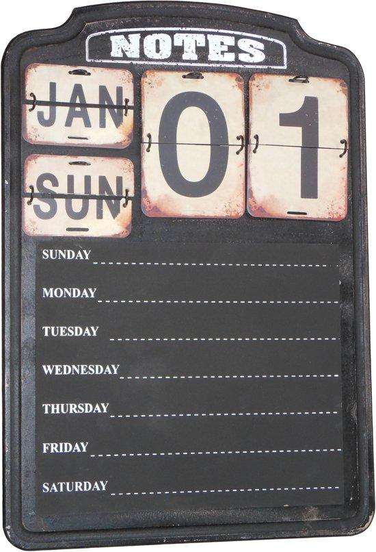 | Grote weekplanner met kalender