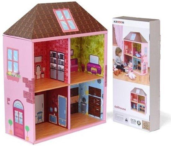 krooom poppenhuis roze boekenkast