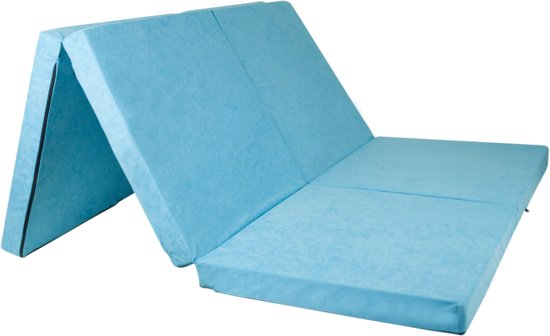 2 persoons logeermatras - blauw - camping matras - reismatras - opvouwbaar matras - 195 x 120 x 7