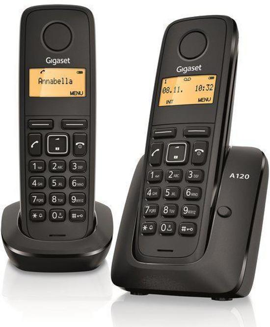Gigaset A120 - Duo DECT telefoon - Zwart