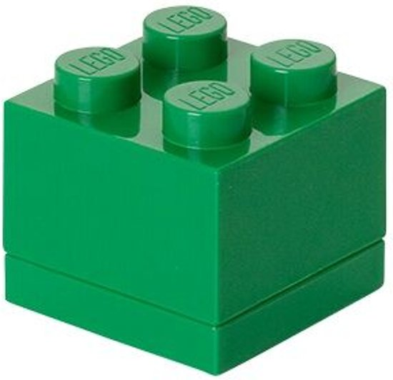 LEGO Mini 4 Opbergbox - 60 ml - Kunststof - Groen