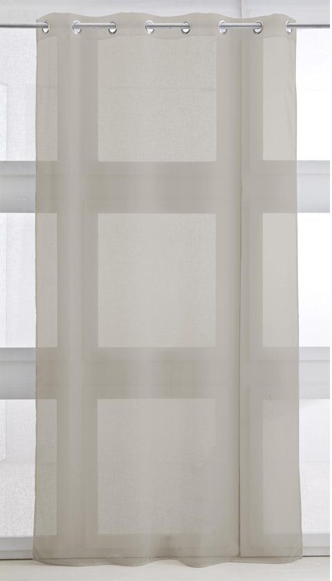 bol.com | Vitrage met ring - kant en klaar gordijn - 135cm x 240cm ...