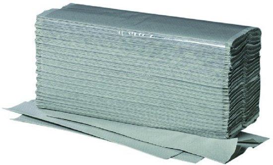 Papieren handdoekjes 1-laags groen v-vouw 100% Recycled 5000 St.