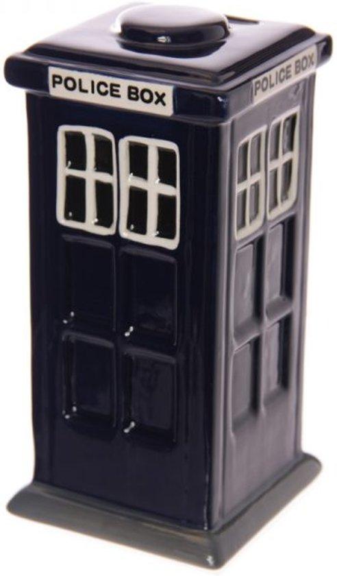 Spaarpot Londense politiebox blauw van keramiek
