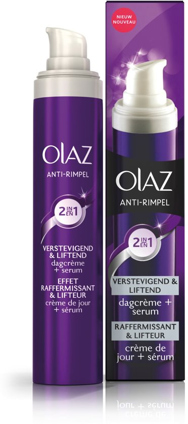 Olaz Anti-Wrinkle Verstevigend & Liftend 2in1 Anti-Veroudering - 50 ml - Dagcrème en Serum