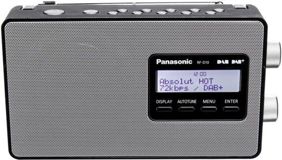 Panasonic RF-D10EG-K - Draagbare DAB+ Radio - Zwart/Zilver