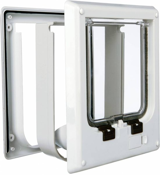 Trixie 4-weg Kattenluik - Elektromagnetisch - Incl Magneet - Wit - 21,1 x 24,4 cm