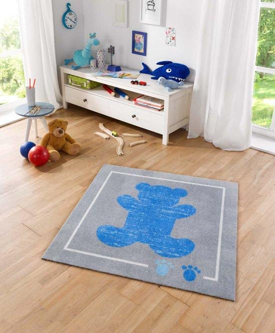 Vloerkleed Blauw Grijs : Bol vloerkleed zala living teddybeer blauw grijs cm