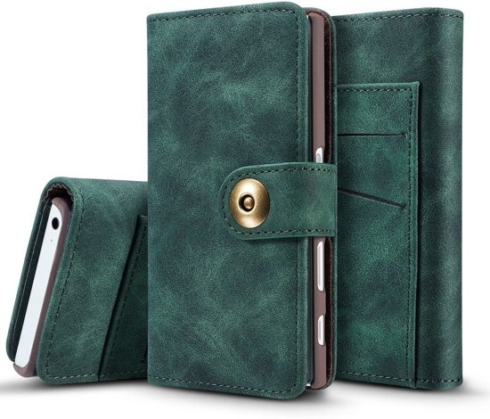 Knaldeals.com - Sony Xperia X Compact 2 in 1 Wallet Case - Uitneembaar Back Cover - groen in De Mulderij