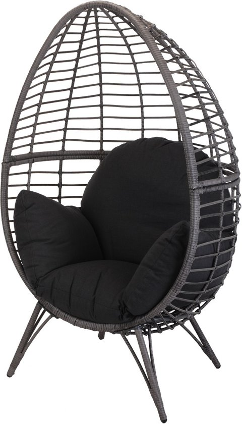 Admirable Bol Com Egg Chair Rotan Grijs Op Pootjes Frankydiablos Diy Chair Ideas Frankydiabloscom