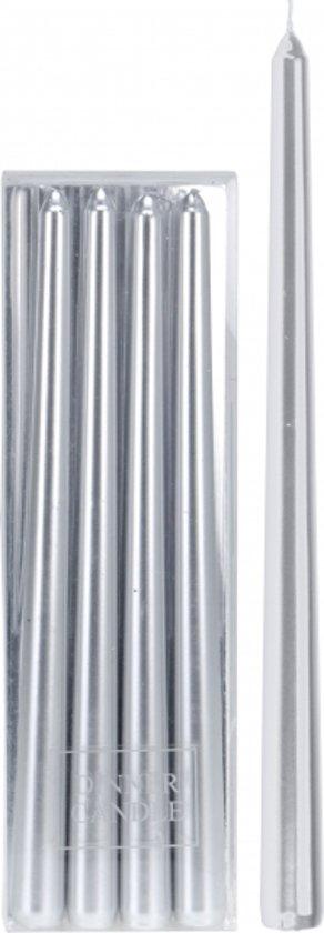 Betere bol.com | Zilveren kaarsen 4 stuks 30 cm OV-15