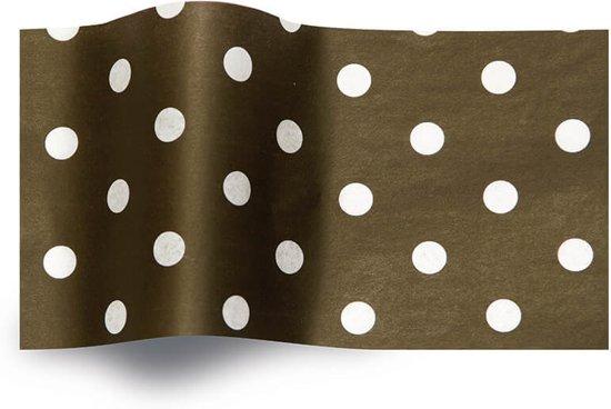 Vloeipapier 50x76cm zwart met witte stippen
