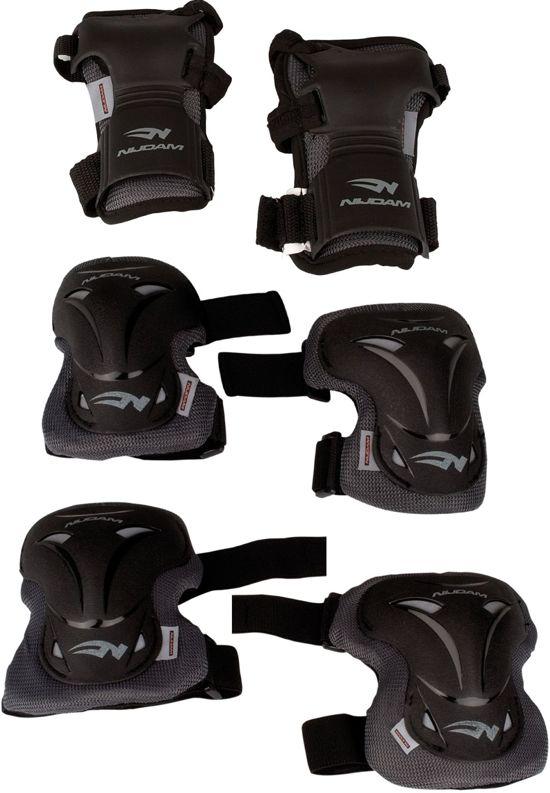 Nijdam Pro-line Beschermset - Senior - Deluxe - Zwart/Grijs - XL