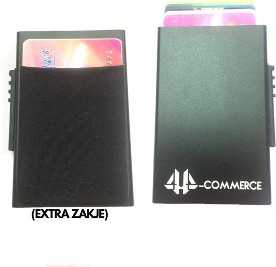 146d6099569 44-Commerce Luxe Premium Verbeterde pasjeshouder Met Extra Ruimte |  Aluminium Creditcard houder | RFID