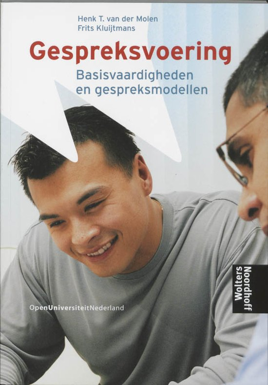Boek cover Gespreksvoering basisvaardigheden en gespreksmodellen van H.T. van der Molen (Paperback)