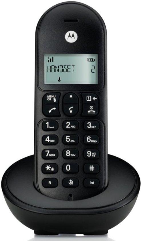 Motorola T101L Basic Single Set - NL - DECT Telefoon - Zwart