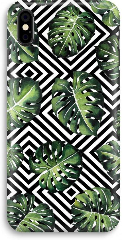 iPhone X Volledig Geprint Hoesje (Hard) - Geometrische jungle