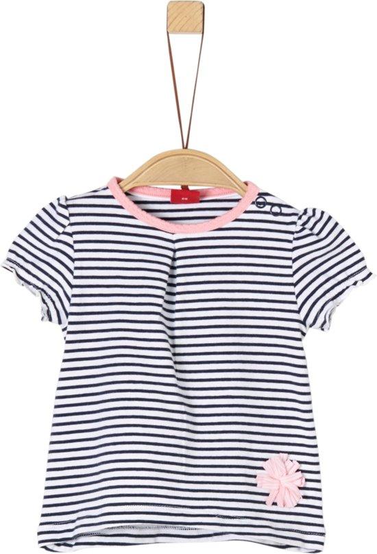 77d3a5d64cf532 S Oliver Meisjes T-shirt korte mouw - blauw - Maat 68