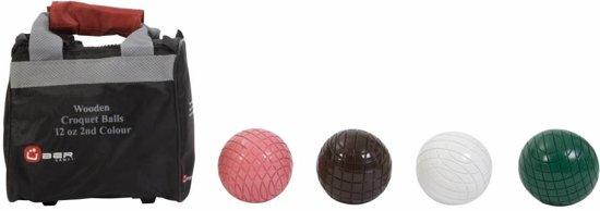 Croquet Ballen - 340 gram - 2e Kleuren - Hout