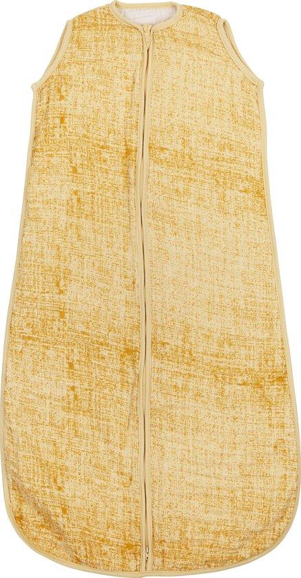 Meyco hydrofiel slaapzak Fine lines - 110cm - okergeel/geel