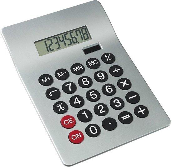 Bureau rekenmachine zilver 20 cm - Kantoor calculator - Bureaurekenmachine