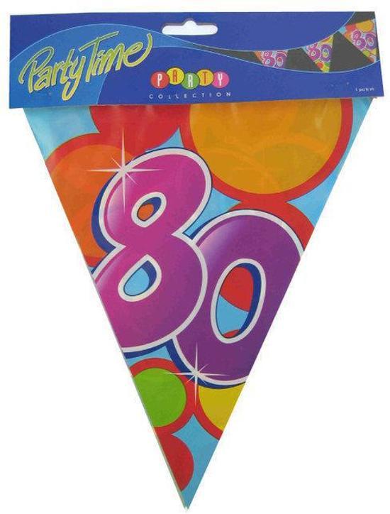 Vlaggenlijn leeftijd 80 jaar