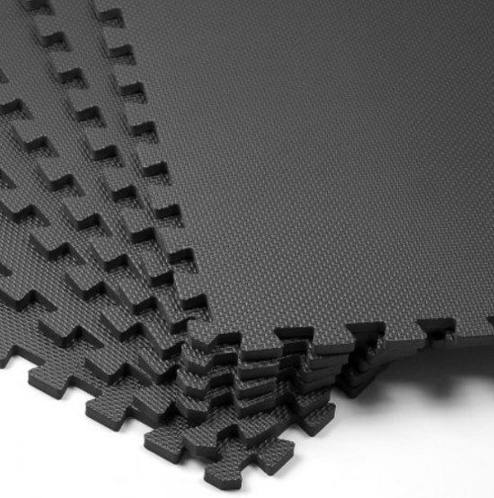 Vloerbeschermmatten (set van 6 stuks) in zwart