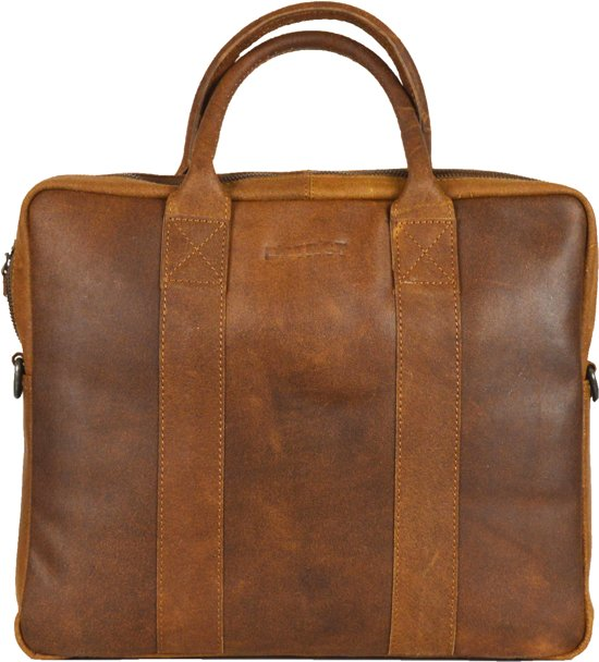 DSTRCT Limited - Laptoptas - 14 inch - cognac