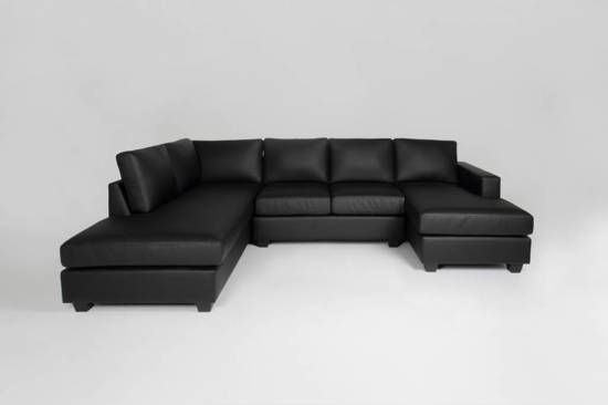 Bol.com fyn dustin hoekbank met hocker links bonded leather