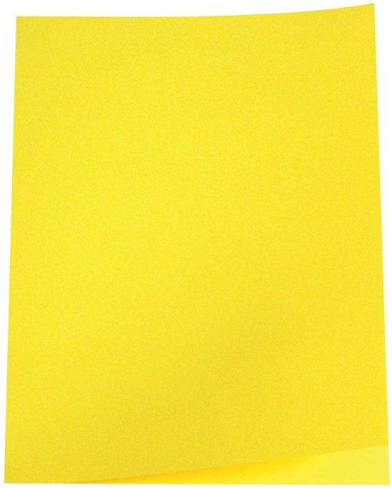 6x 5 Star dossiermap geel, pak a 100
