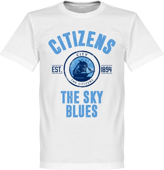 Manchester City Established T-Shirt - Wit - S