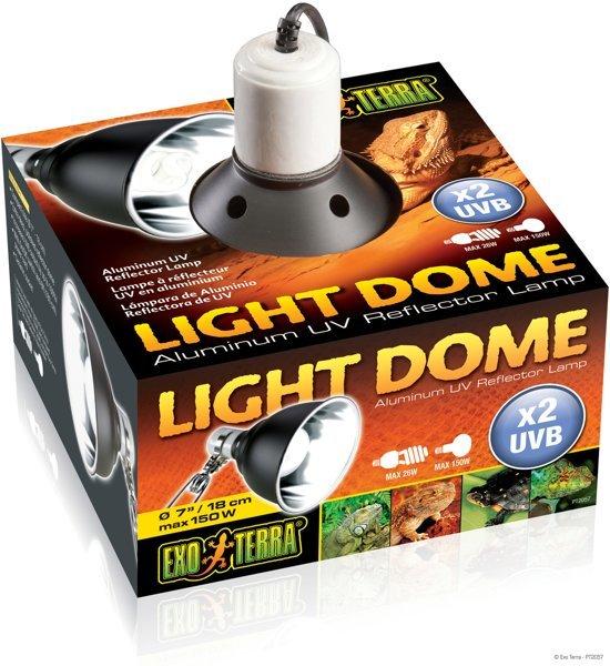 Exo Terra Light dome Terrariumverlichting - Zwart - M - 18cm