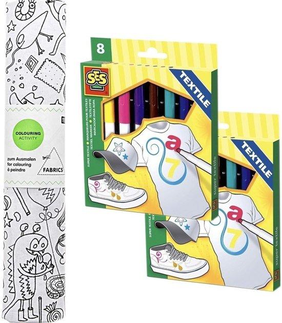 Kleurplaten Inkleuren Met Cijfers.Knutsel Stoffen Kleurplaat 140 Cm Incl Textielstiften Voor Kinderen Hobbymateriaal Knutselmateriaal Kleurplaat Inkleuren